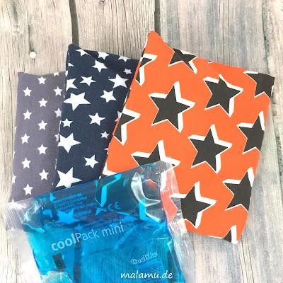 Hüllen für Kühlpacks mit Sternen