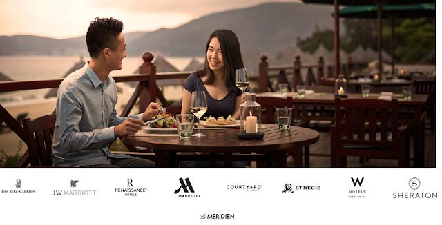 Marriott萬豪香港地區酒店入住即贈最高1200港元餐飲額度(12/30前有效)