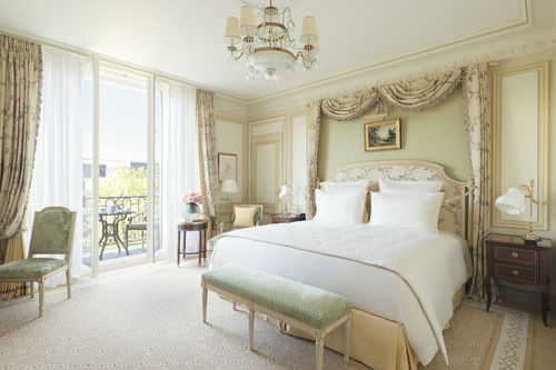 Beautiful luxurious guest suite at Ritz Paris Hotel
