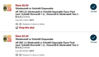 CVS Deals on Schick Disposable Razors 9/5-9/11