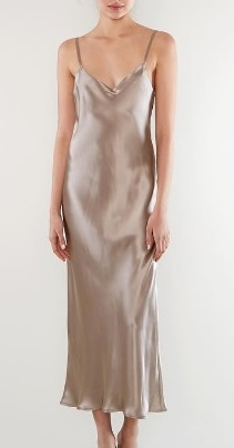 ae347120a76 I came across this oyster hued satin slip Gia dress by Lily Ashwell while  looking for the latest Rachel Ashwell Shabby Chic books recently.