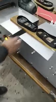 اسطمبات تقطيع الشباشب مثبتة على ماكينة تقطيع الشباشب