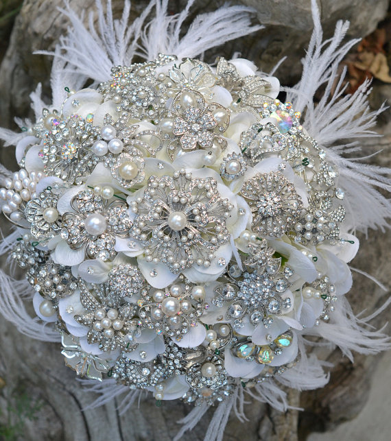 Bobka Baby And Bridal: More Bridal Bouquets Of Bling