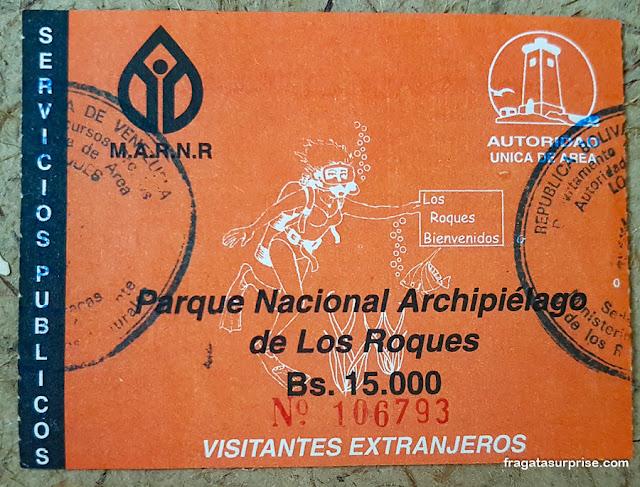 Taxa ambiental de Los Roques, Venezuela