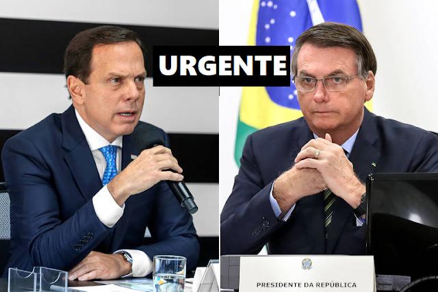 Vídeo -João Doria desiste de briga e pede paz a Bolsonaro que ...