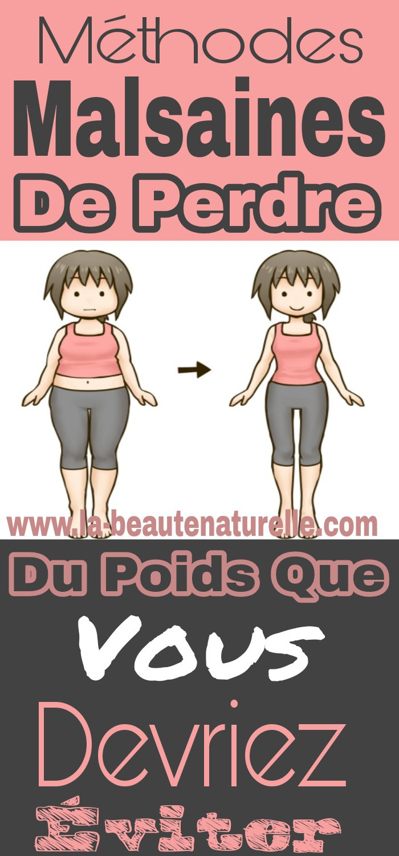 Méthodes malsaines de perdre du poids que vous devriez éviter