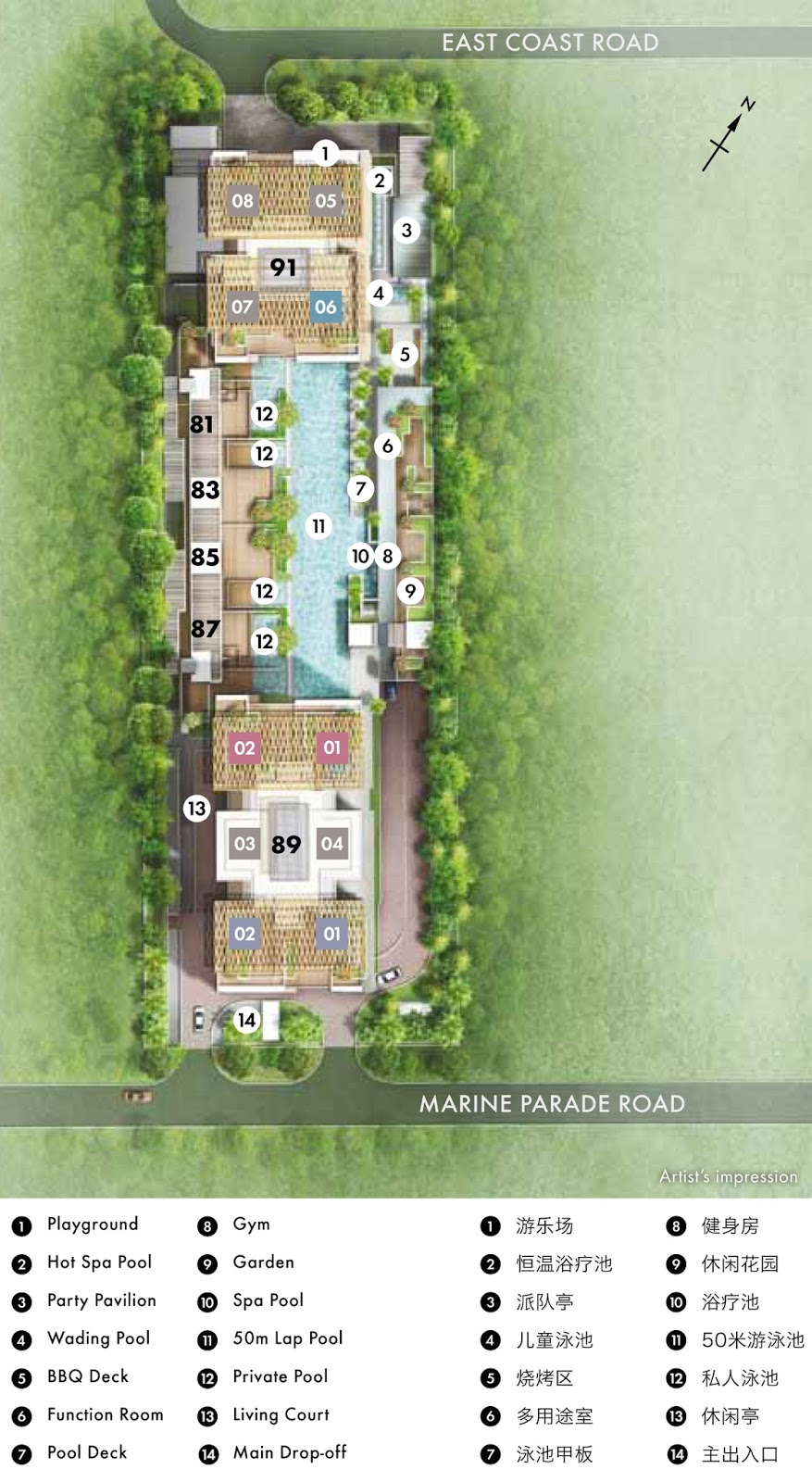 Marine Blue Site plan