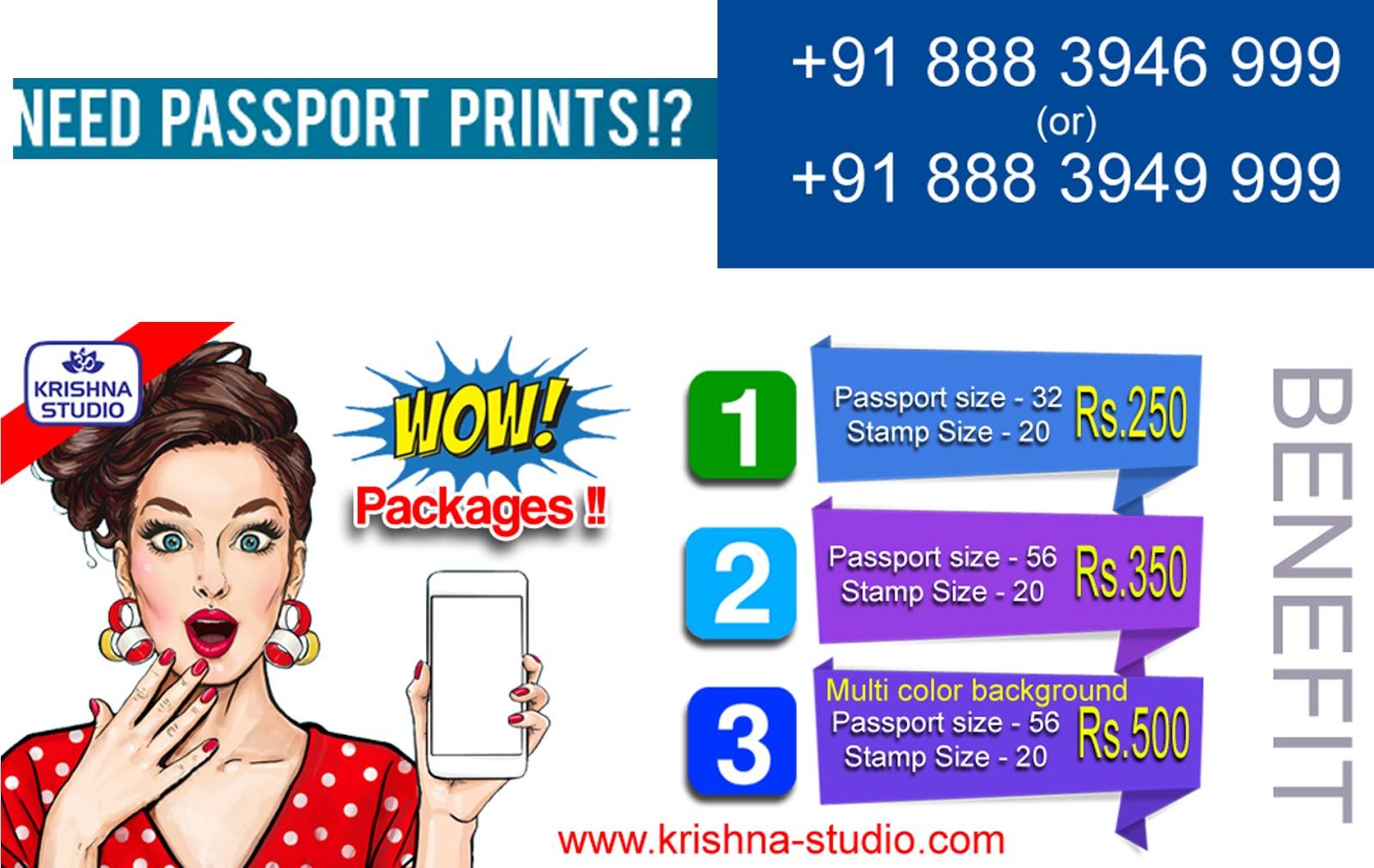 Online Passport Size Photo Printing Service around India