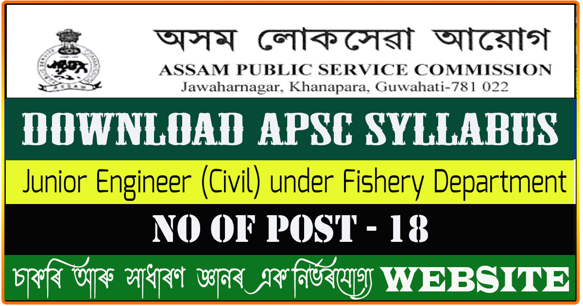 Download Syllabus for Junior Engineer (Civil) under Fishery Department
