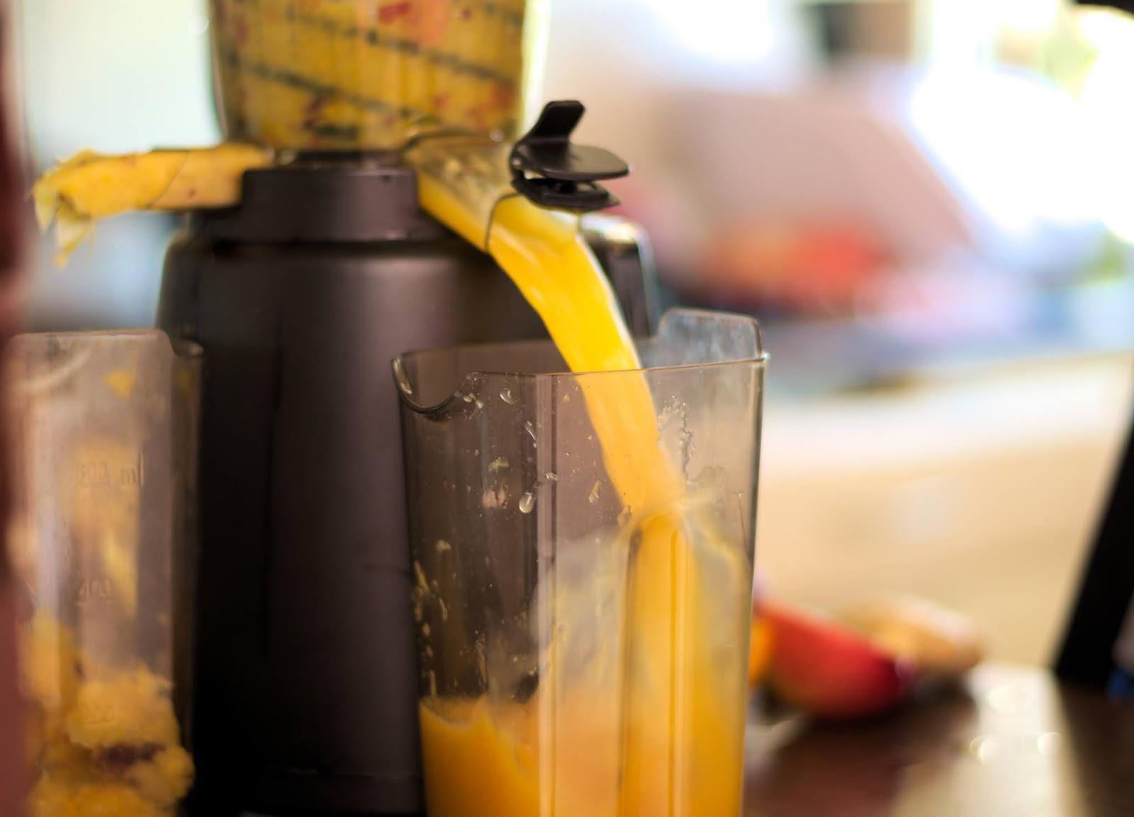 pyszny sok z wyciskarki wolnoobrotowej