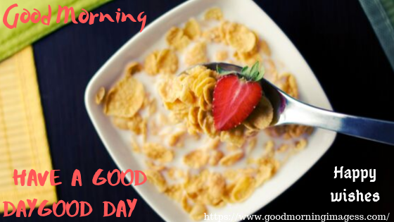 Good morning images with food