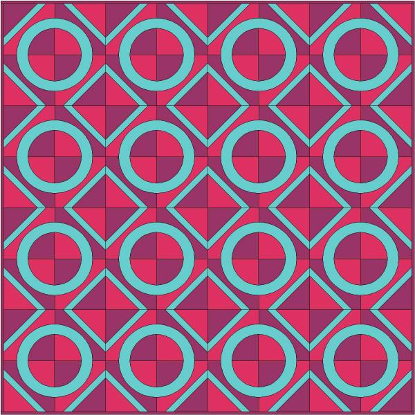 Porthole quilt | DevotedQuilter.blogspot.com