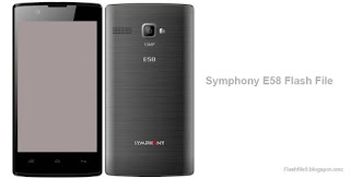 This post we will share with you latest version of symphony e58 flash file. you can easily download latest flash file for your smart phone.