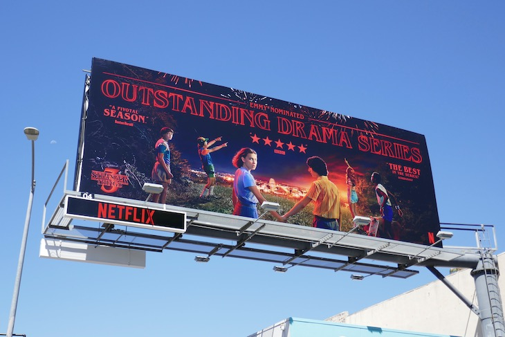 Stranger Things 3 Emmy nominee billboard