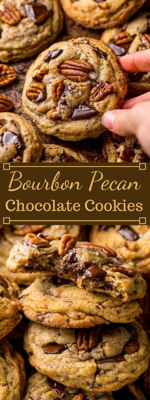 Brown Butter Bourbon Pecan Chocolate Chunk Cookies #desserts #healthy #diet #chocolate #paleo
