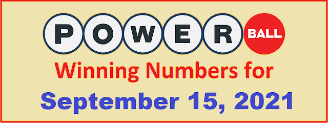 PowerBall Winning Numbers for Wednesday, September 15, 2021