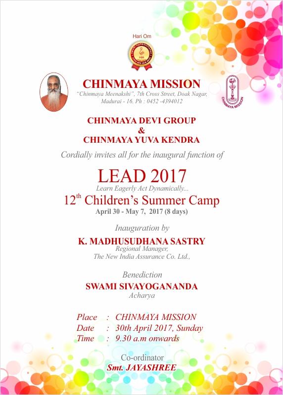 Chinmaya mission madurai summer camp for children lead 2017 mathroo pooja by children stopboris Images