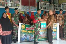 Kunjungan Prajurit Yonif Para Raider 433/JS ke SLB Minasa Baji