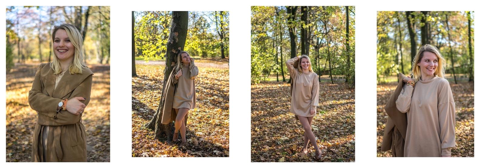 1 beżowy płaszcz z paskiem gdzie kupić co założyć jak nosić płaszcz jesienią carmel autumn coat femme luxe cena opinia jesienne stylizacje outfit łódź blogerka styl moda lifestyle