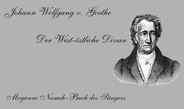 Goethes Bild zum west-östliche Divan