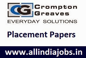 Crompton Greaves Placement Papers
