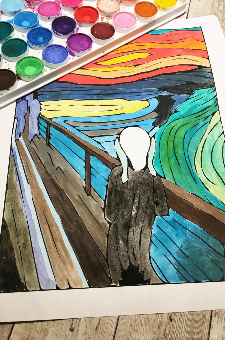 Halloween art project - The Scream