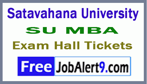 Satavahana University SU MBA Exam Hall Tickets Download
