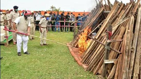 Assam CM burns illegal drugs worth ₹163 cr to send message of zero-tolerance