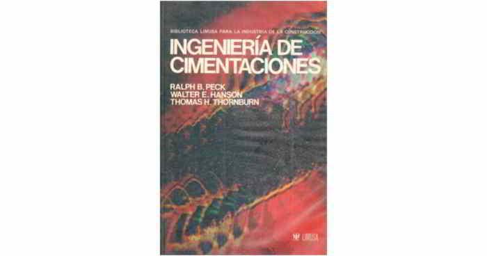 Descargar libro en pdf de ingenieria de cimentaciones - Peck, Hanson, Thornburn