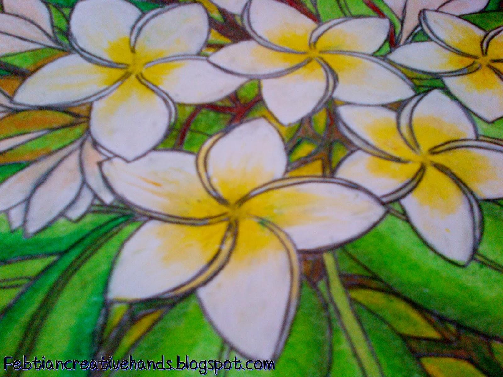 Gambar Ilustrasi Bunga Kamboja Hilustrasi