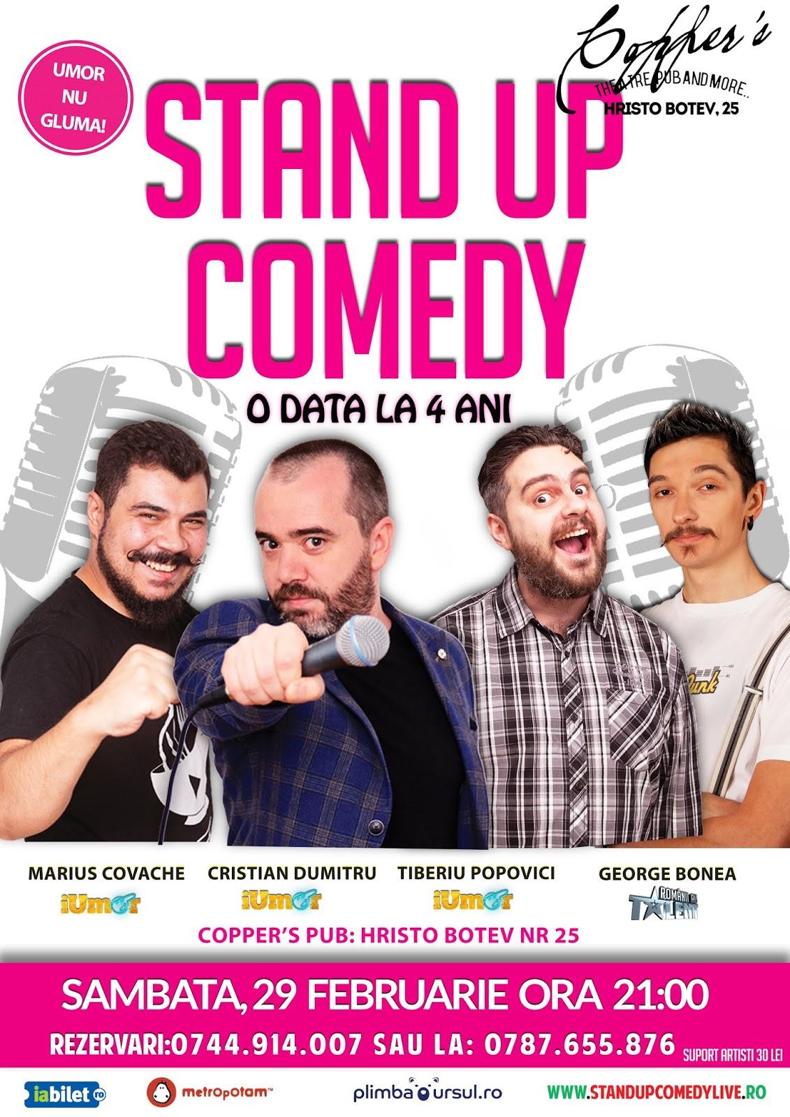 Stand-Up Comedy Sambata Bucuresti 2020