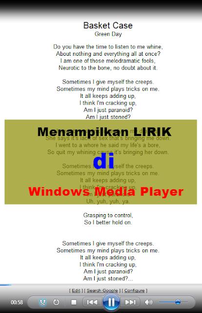 Cara Menampilkan Lirik di Windows Media Player