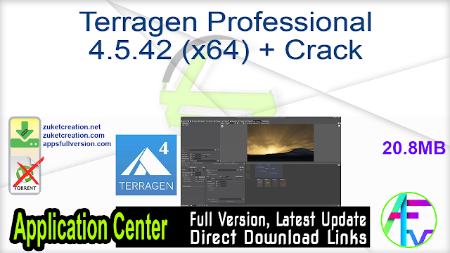 Terragen Professional 4.5.42 (x64) + Crack