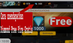 Cara unendapatkan Diamond Free Fire Gratis  1
