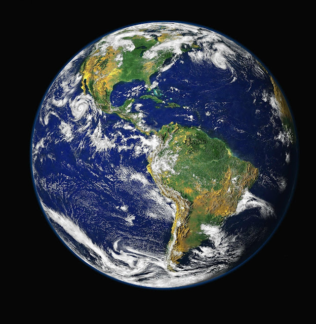 globe earth planet africa america ocean global view moon