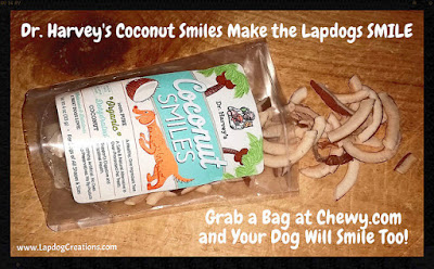 Dr. Harvey's Coconut Smiles - Lapdog Creations #dogtreats #organic #Chewy #DrHarvey #coconutfordogs