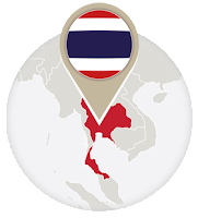 Thai flag and map