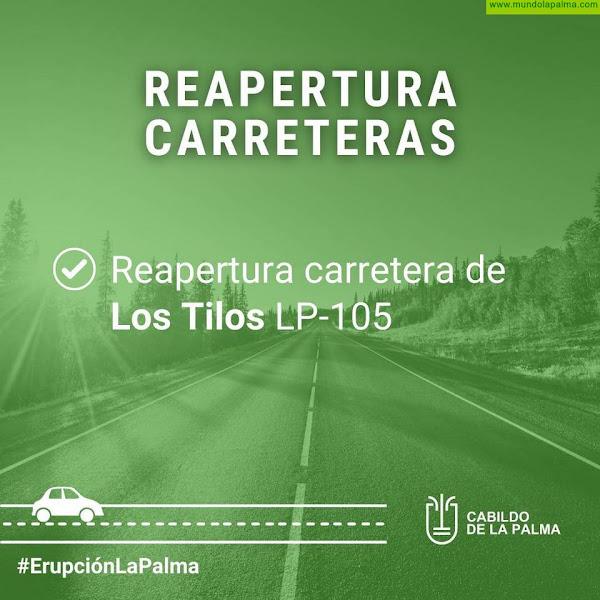 El Cabildo de La Palma reabre la carretera de Los Tilos