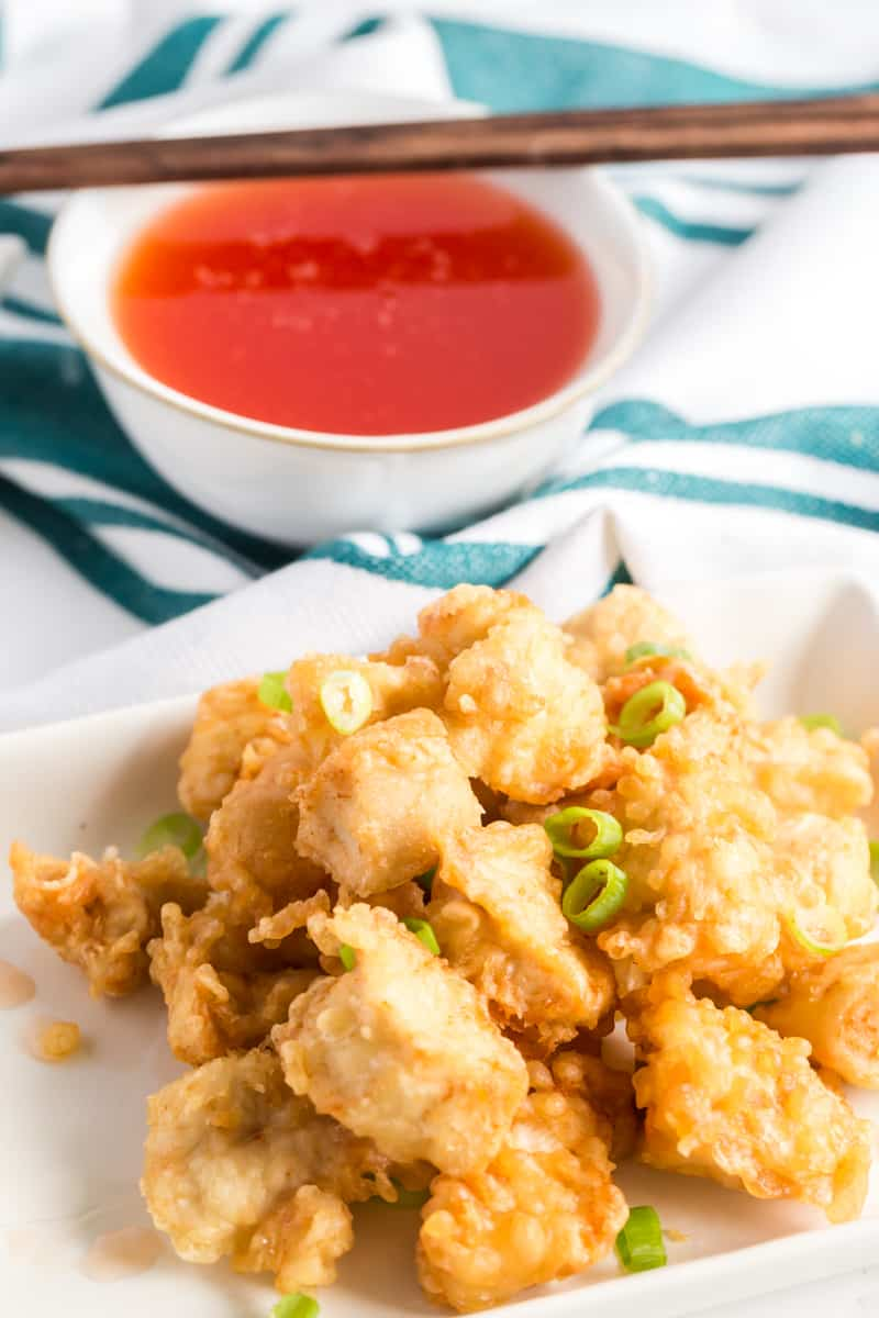 If take-out is what you're craving this Sweet and Sour Chinese Chicken is the perfect 20 minute budget-friendly meal to fill that need!