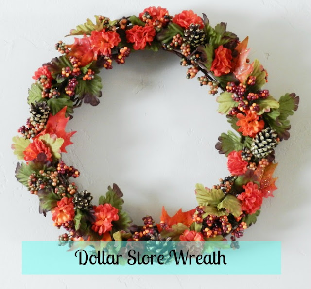 Fall Flower and Pinecone Wreath