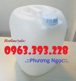 Can nhựa đựng hóa chất, can nhựa HDPE, can có nắp chống tràn 20LT