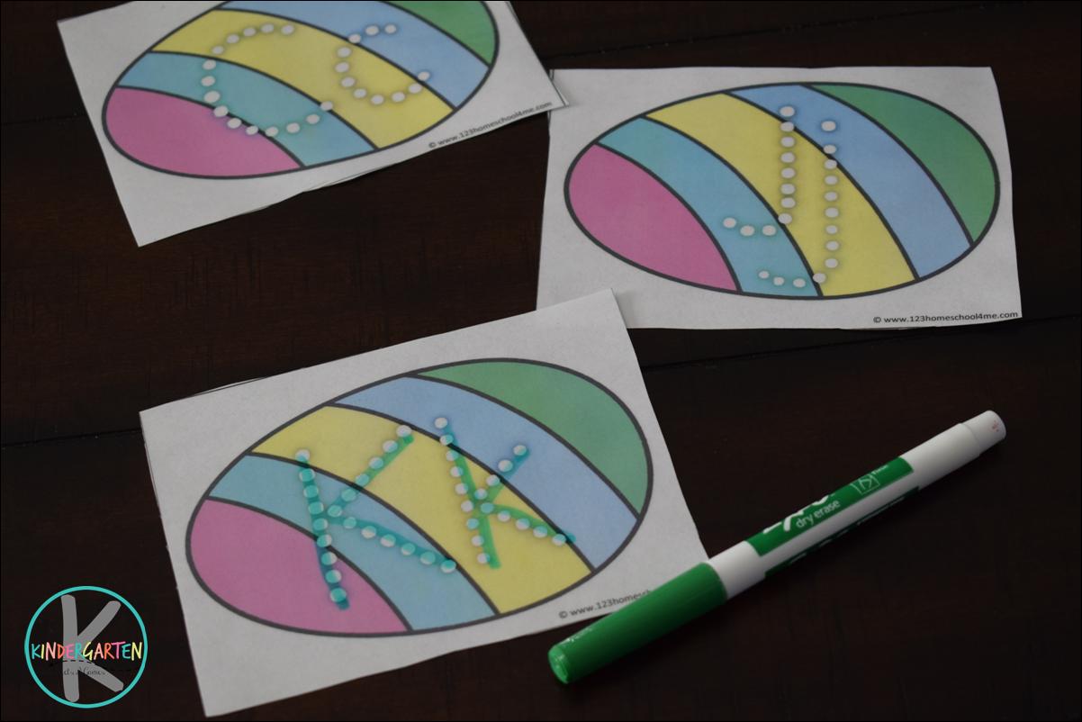 Free Easter Alphabet Letter Practice Instant Download