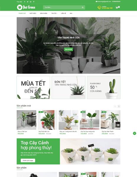 Template blogspot tiếp thị liên kết Ant Green 2021