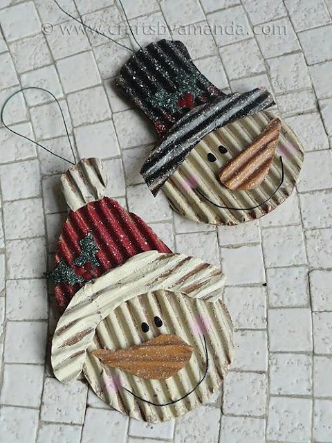 adornos para poner en los regalos de navidad de cartón corrugado