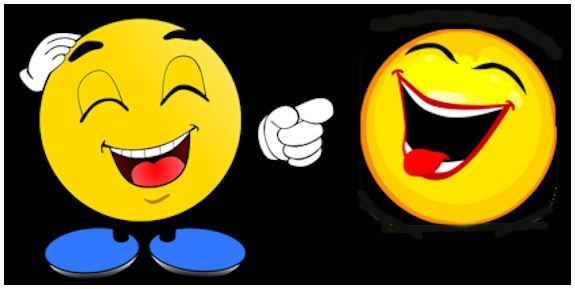 Kaksi nauravaa emojia.