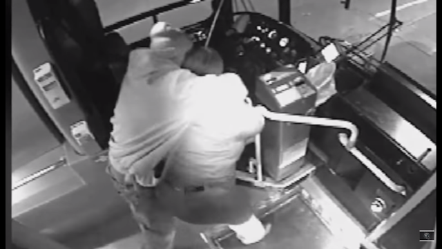 Old man stops attack on bus driver, by whipping the shit out of the attacker with his cane.