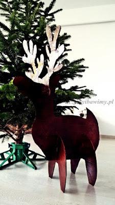 DIY jak zrobić renifera - Boże Narodzenie - dekoracja