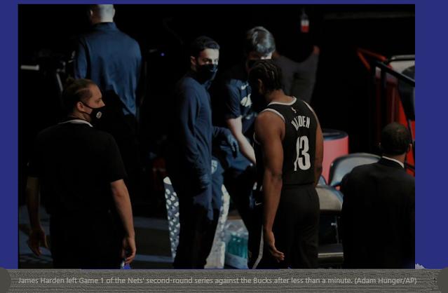 Nets Strike First Against Bucks Despite Losing James Harden To Hamstring Injury