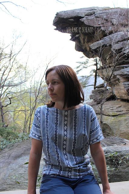Der Rabe im Schlamm, Frau Edda, Shirt, Nähen, Woven Path, Art Gallery Fabrics Knits