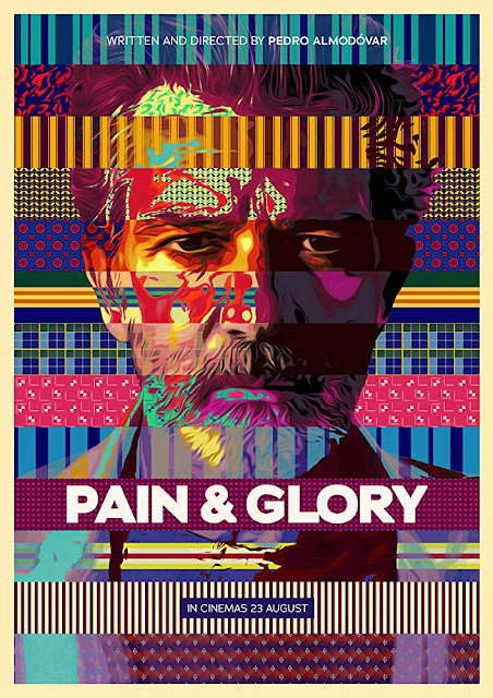 "Photo: movie poster for Pedro Almodóvar's 2019 film ""Pain and Glory,"" starring Antonio Banderas and Penelope Cruz"